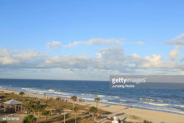 Amelia Island Aerial near Main Beach Park Amelia Island Florida USA