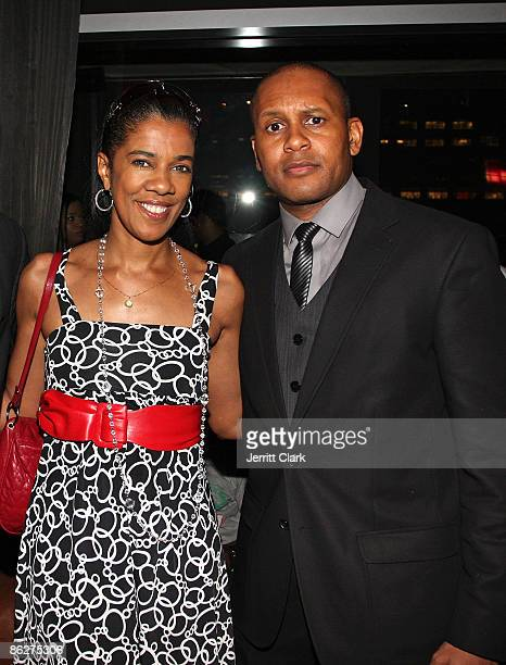 Amelia Ismore and Kevin Powell attend Kevin Powell's birthday celebration at the Hotel Gansevoort on April 28 2009 in New York City