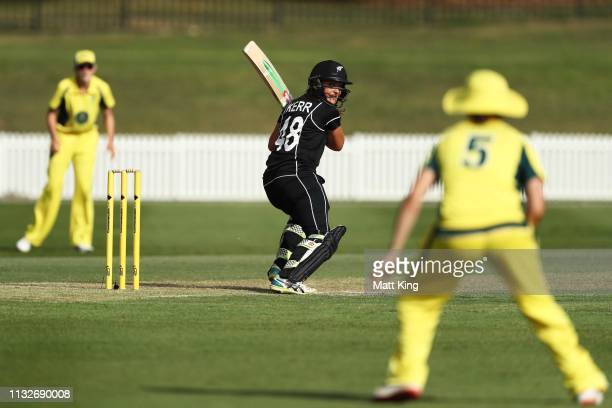 Amelia Kerr of New Zealand bats during the GovernorGeneral's XI v New Zealand Tour match at Drummoyne Oval on February 28 2019 in Sydney Australia