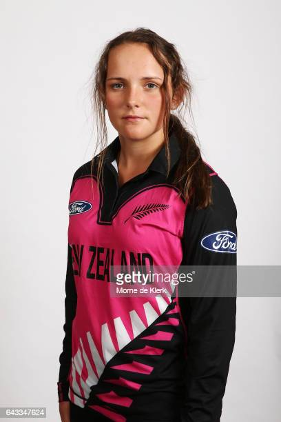 Amelia Kerr poses during a New Zealand Women's T20 headshots session at the Adelaide Oval on February 21 2017 in Adelaide Australia