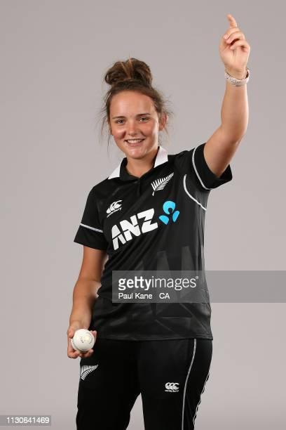 Amelia Kerr poses during the New Zealand Women's ODI Headshots Session at the Hyatt Regency on February 19 2019 in Perth Australia