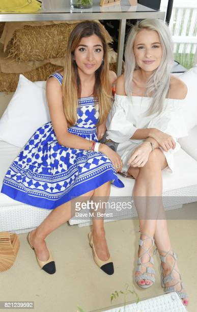 Amelia Liana and Victoria Magrath attend the JaegerLeCoultre Gold Cup Polo Final at Cowdray Park on July 23 2017 in Midhurst England