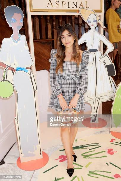 Amelia Liana attends Giles x Aspinal SS19 press day as part of London Fashion Week 2018 on September 17 2018 in London UK