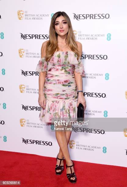 Amelia Liana attends the EE British Academy Film Awards Nominees Party at Kensington Palace on February 17 2018 in London England