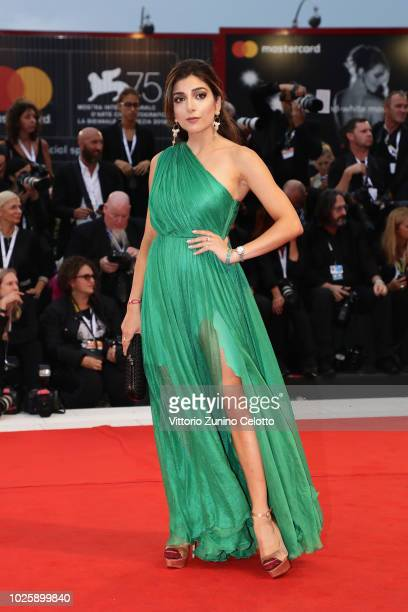 Amelia Liana walks the red carpet ahead of the 'Suspiria' screening during the 75th Venice Film Festival at Sala Grande on September 1 2018 in Venice...