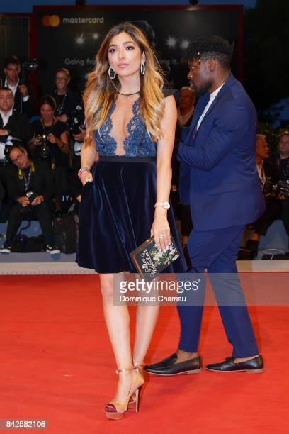 Amelia Liana walks the red carpet ahead of the 'Three Billboards Outside Ebbing Missouri' screening during the 74th Venice Film Festival at Sala...