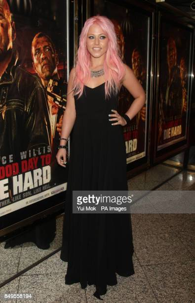Amelia Lily arriving for the UK film premiere of A Good Day To Die Hard at the Empire Leicester Square in central London