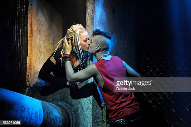 Amelia Lily as Whatsername and Aaron Sidwell as Johnny in Billy Joe Armstrong's American Idiot The Musical choreographed and directed by Racky Plews...