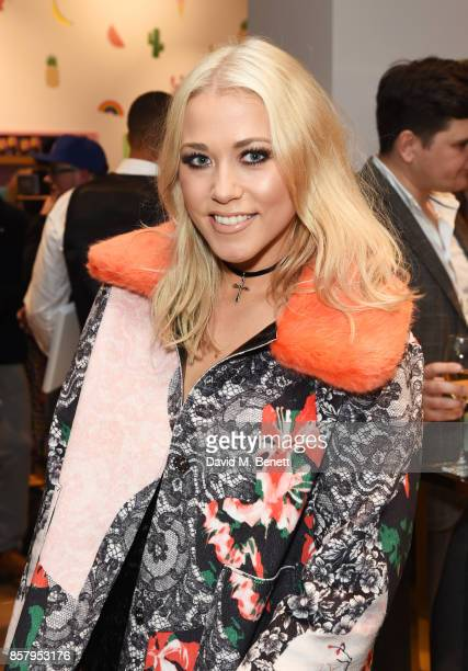 Amelia Lily attends the launch of the new Lady Garden limited edition tshirts designed by Naomi Campbell Cara Delevingne Poppy Delevingne Chloe...