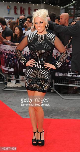 Amelia Lily attends the World Premiere of 'The Expendables 3' at Odeon Leicester Square on August 4 2014 in London England