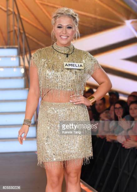 Amelia Lily enters the Big Brother House for the Celebrity Big Brother launch at Elstree Studios on August 1 2017 in Borehamwood England