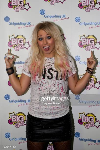 Amelia Lily performs at Girlguiding UK's Big Gig at Motorpoint Arena on October 6 2012 in Sheffield England