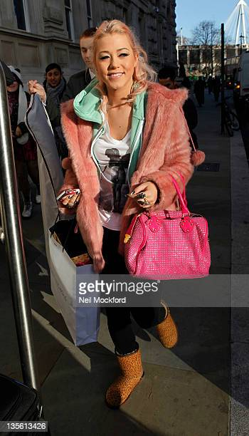 Amelia Lily seen leaving her London hotel on December 12 2011 in London England