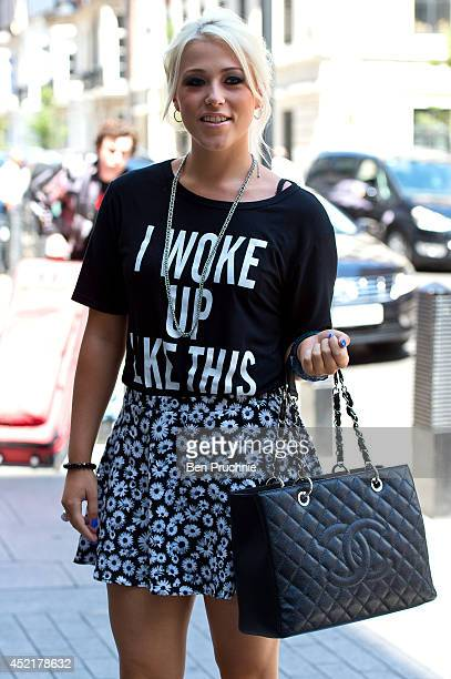 Amelia Lily sighted at BBC Radio Studios on July 15 2014 in London England