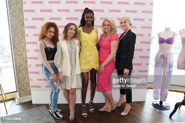 Amelia Monet Yulia Rorstrom Leomie Anderson Chemmy Alcott and Victoria Magrath join Victoria's Secret Angel Leomie Anderson at the launch of the new...