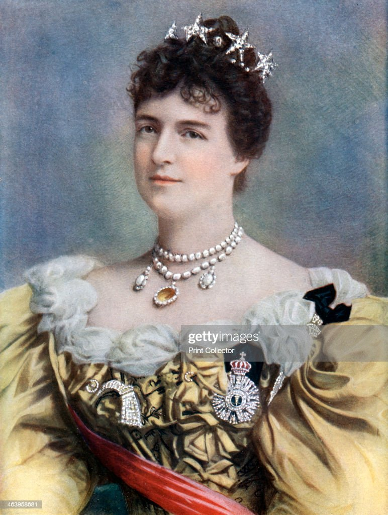 Amelia of Orleans, Queen of Portugal, late 19th-early 20th century.Artist: Camacho : News Photo