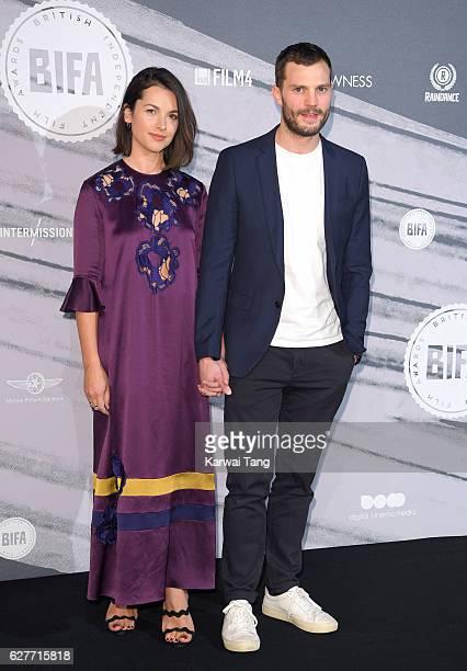 Amelia Warner and Jamie Dornan attend at The British Independent Film Awards at Old Billingsgate Market on December 4 2016 in London England