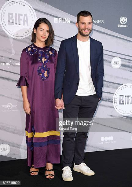 Amelia Warner and Jamie Dornan attend at The British Independent Film Awards at Old Billingsgate Market on December 4 2016 in London England