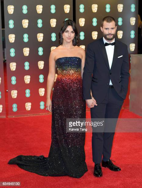 Amelia Warner and Jamie Dornan attend the 70th EE British Academy Film Awards at the Royal Albert Hall on February 12 2017 in London England