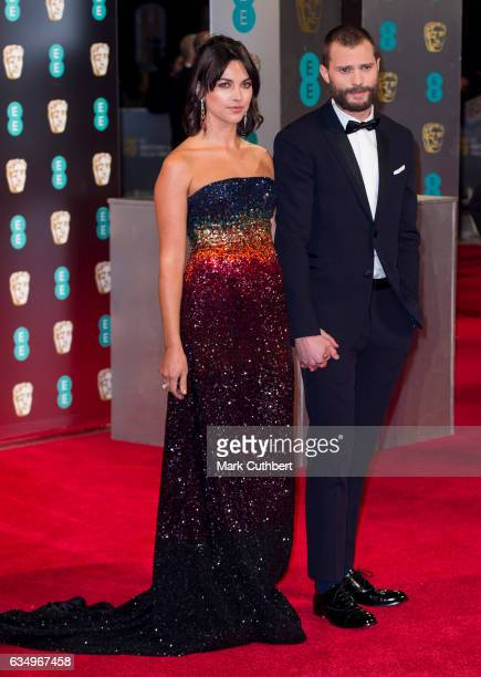 Amelia Warner and Jamie Dornan attend the 70th EE British Academy Film Awards at Royal Albert Hall on February 12 2017 in London England
