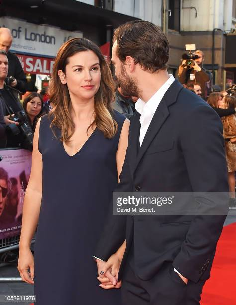 Amelia Warner and Jamie Dornan attend the European Premiere and Mayor of London Gala screening of 'A Private War' during the 62nd BFI London Film...