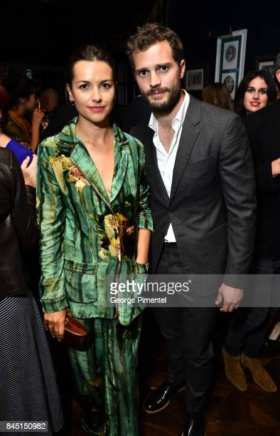 Amelia Warner and Jamie Dornan attend The Hollywood Foreign Press Association and InStyle's annual celebrations of the 2017 Toronto International...