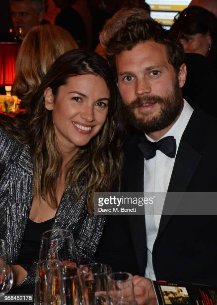 Amelia Warner and Jamie Dornan attend The Old Vic Bicentenary Ball to celebrate the theatre's 200th birthday at The Old Vic Theatre on May 13 2018 in...