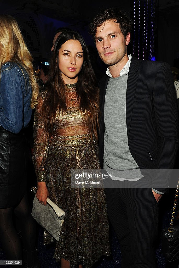 Amelia Warner and Jamie Dornan attend the Warner Music Group Post BRIT Party In Association With Samsung at The Savoy Hotel on February 20, 2013 in London, England.