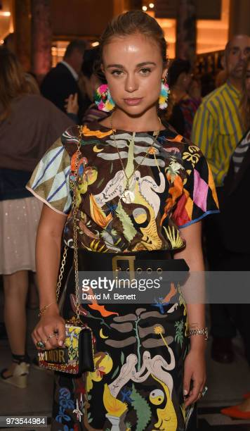 Amelia Windsor attends a private view of 'Frida Kahlo Making Her Self Up' at The VA on June 13 2018 in London England