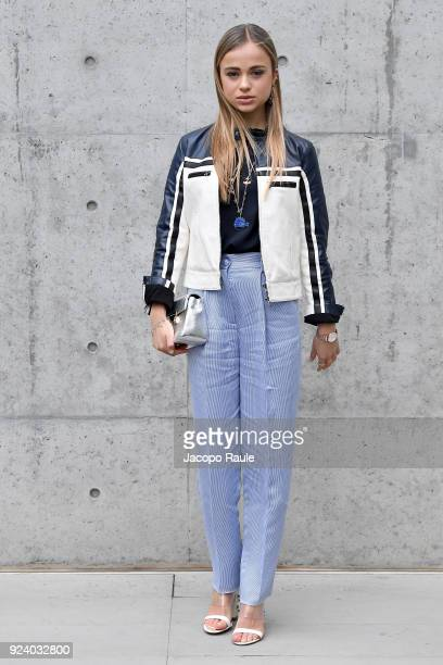 Amelia Windsor attends the Emporio Armani show during Milan Fashion Week Fall/Winter 2018/19 on February 25 2018 in Milan Italy