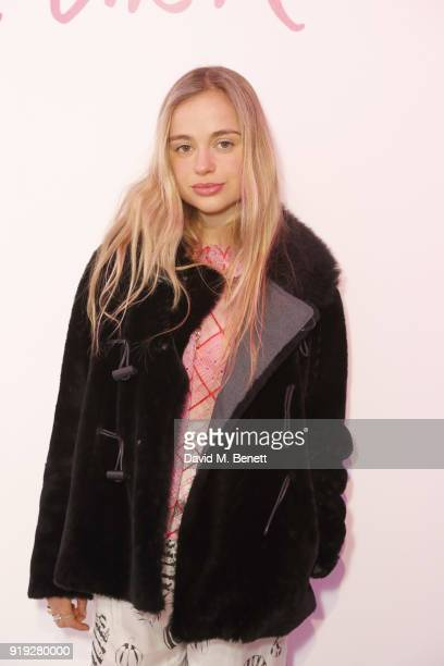 Amelia Windsor attends the Lulu Guinness AW18 London Fashion Week presentation on February 17 2018 in London England