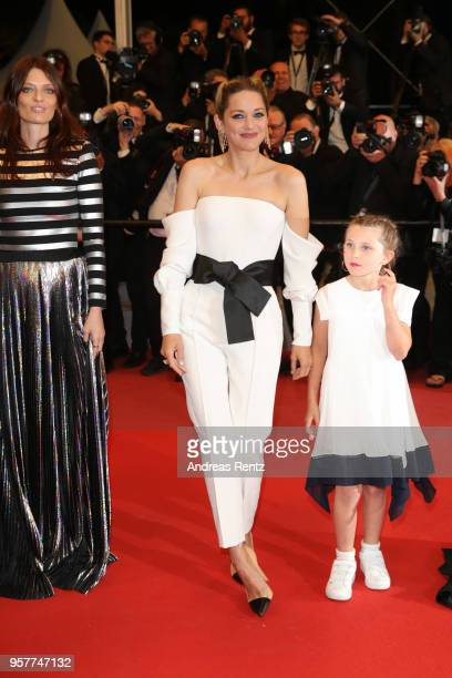 Amelie Daure Marion Cotillard and Ayline AksoyEtaix of the film Gueule d'Ange attend the screening of 3 Faces during the 71st annual Cannes Film...