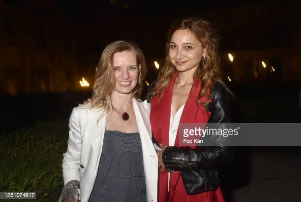 Amelie de Senigond de Rousset de Roumefort du Cluzeaud and photographer Marlene Delcambre attend Valentin Cavaillé de Nogaret Birthday Party at...