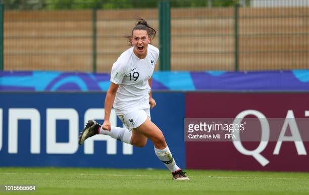 Amelie Delabre of France after the FIFA U20 Women's World Cup France 2018 group A match between Netherlands and France at on August 12 2018 in...