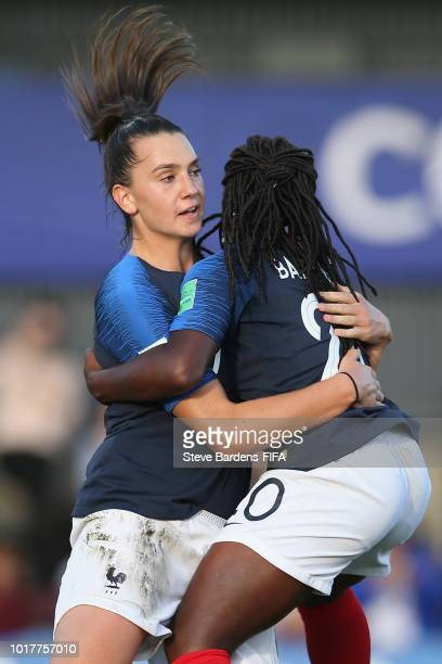 Amelie Delabre of France celebrates scoring from the penalty spot during the FIFA U20 Women's World Cup France 2018 Quarter Final quarter final match...