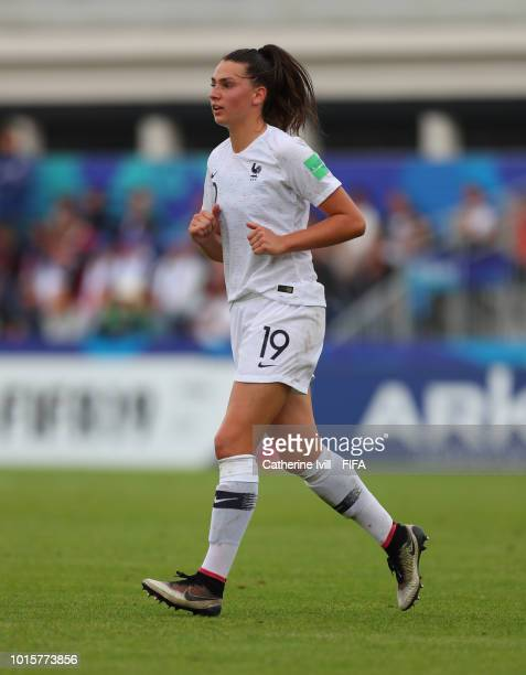 Amelie Delabre of France during the FIFA U20 Women's World Cup France 2018 group A match between Netherlands and France at on August 12 2018 in...
