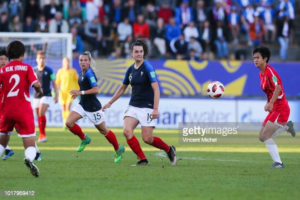 Amelie Delabre of France during the Quater Final Women's World Cup U20 match between France and Korea DPR on August 16 2018 in Concarneau France
