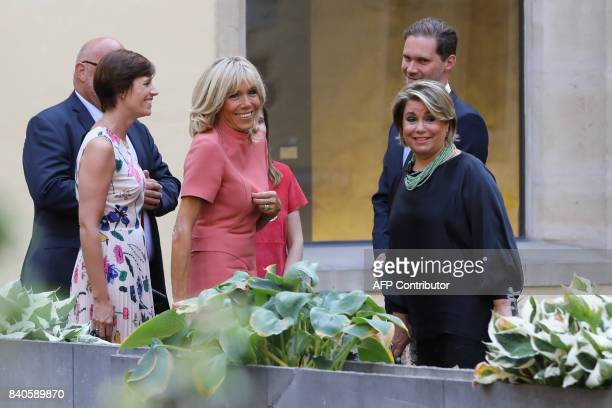 Amelie Derbaudrenghien partner of Belgian prime minister Brigitte Macron wife of the French president Maria Teresa Grand Duchess of Luxembourg and...