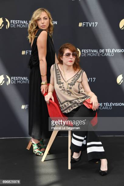 Amelie Etasse and AnneElisabeth Blateau from 'Scenes de Menages' attend a photocall during the 57th Monte Carlo TV Festival Day 2 on June 17 2017 in...