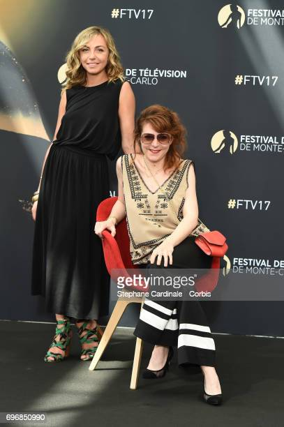 Amelie Etasse and AnneElisabeth Blateau from TV Show 'Scenes de Menages' pose for a Photocall during the 57th Monte Carlo TV Festival Day Two on June...