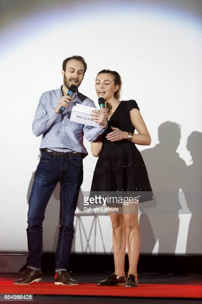 Amelie Etasse and Antoine Gouy attend closing ceremony of Valenciennes Cinema Festival on March 18 2017 in Valenciennes France