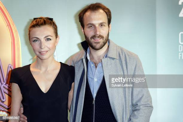 Amelie Etasse and Antoine Gouy attend closing ceremony photocall of Valenciennes Cinema Festival on March 18 2017 in Valenciennes France