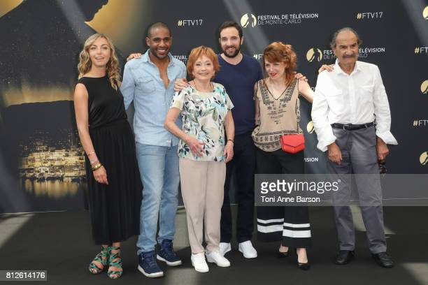 Amelie Etasse LoupDenis Elion Marion Game David Mora AnneElisabeth Blateau and Gerard Hernandez attend photocall for 'Scenes de Menages' on June 17...