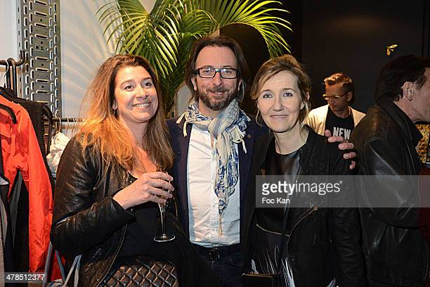 Amelie Jaffray her husband composer Alex jaffray and Sylvie Bourgeois Harel attend the Sylvie Bourgeois Book Launch Cocktail At La Fee Maraboutee...