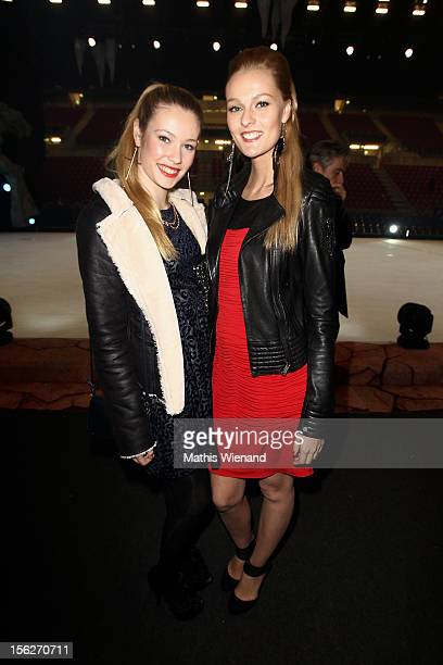 Amelie Klever and Miriam Hoeller attend the Ice Age Live gala premiere at ISS Dome on November 12 2012 in Duesseldorf Germany
