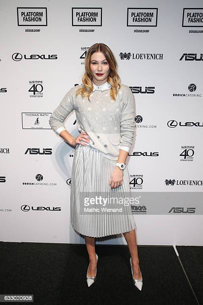 Amelie Klever attends the Thomas Rath show during Platform Fashion January 2017 at Areal Boehler on January 29 2017 in Duesseldorf Germany