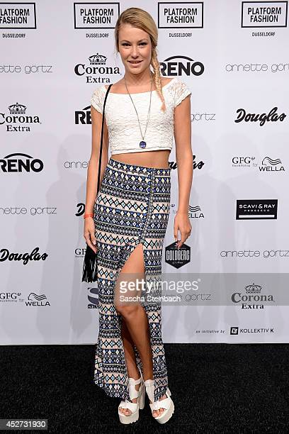 Amelie Klever poses prior to the Annette Goertz Show during Platform Fashion Duesseldorf on July 26 2014 in Duesseldorf Germany