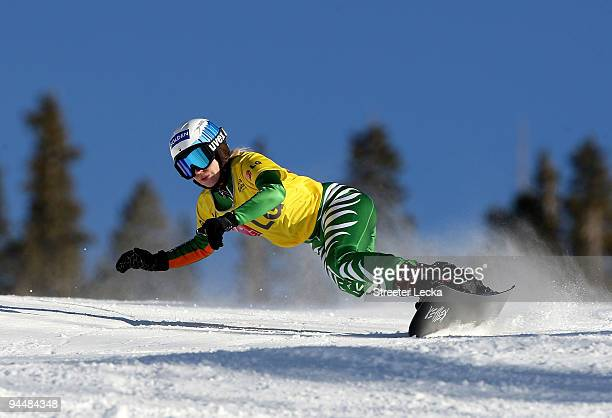 Amelie Kober of Germany competes in the Snowboard FIS Parallel Giant Slalom World Cup 2010 on December 15 2009 in Telluride Colorado