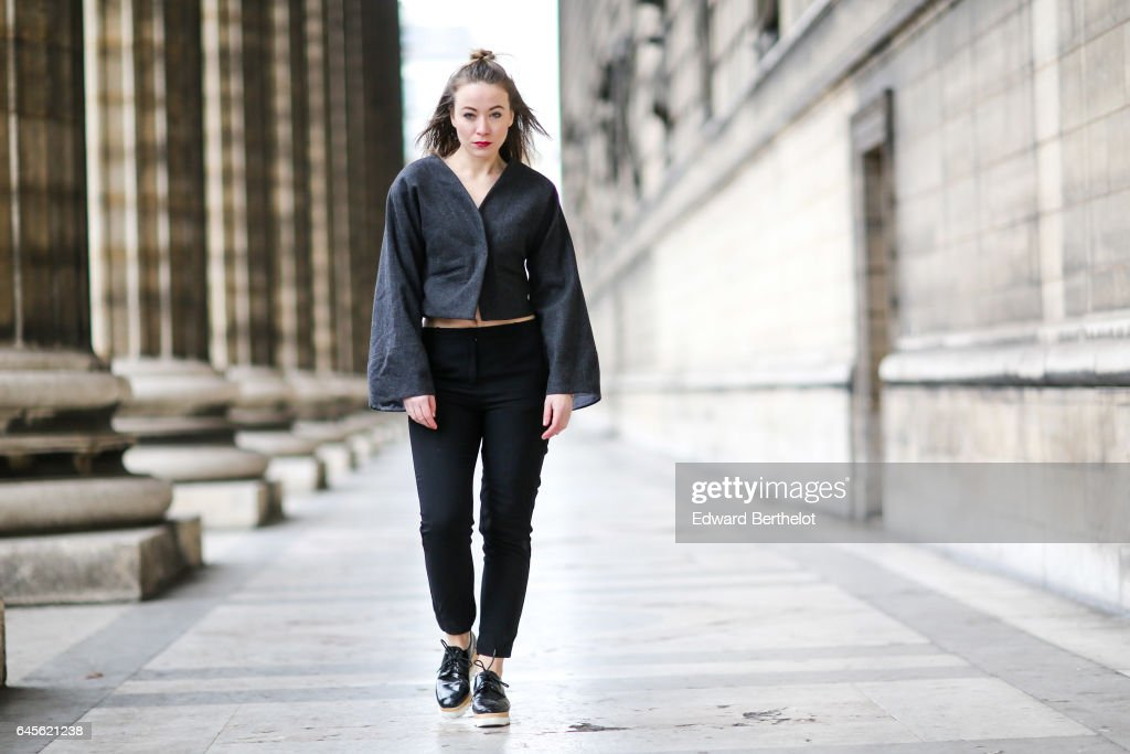 d8cc61f7bdbd Amelie Lloyd, fashion blogger, wears And Other Stories black pants ...