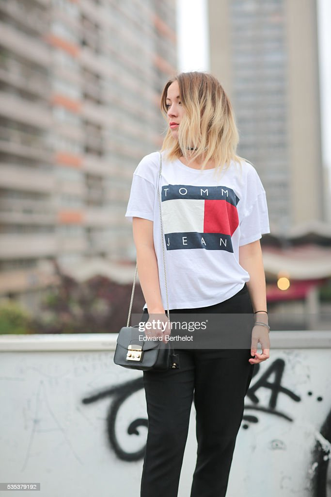 a5ce8e9c853c Amelie Lloyd is wearing And Other Stories black pants, a Tommy ...